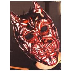 Maschera da Diavolo Metallica Colore Rosso