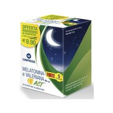 Melatonina+ Forte 5 Complex E Valeriana Act 45mg Compresse 11,4g