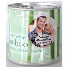Bomboniere Matrimonio Naturali Personalizzate Bamboo Fiori In Lattina Macflowers