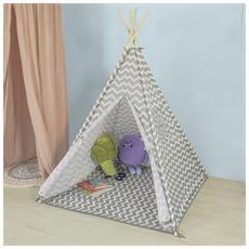 Tenda Indiani Bambini Casa Per Bambini Con 1 Portella E 1 Finestra Oss03