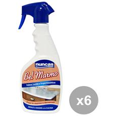 Set 6 Sgrassatore Marmo Trigger 500 Ml. Detergenti Casa