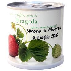 Bomboniere Naturali Personalizzabili Fragola Fiori In Lattina Macflowers Cm 7,5x8 H