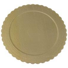 Sottotorta Oro 32cm Rotondo In Carta 1 Pz