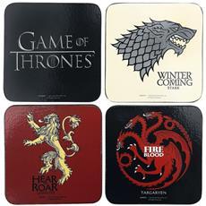 Game Of Thrones Set Di Sottobicchieri (taglia Unica) (multicolore)