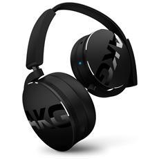 Cuffie Wireless Bluetooth ad Alte Prestazioni con Microfono e Comandi sul Padiglione Colore Nero