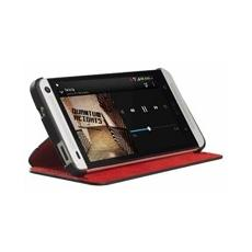 Flip cover red + black con stand orig. htc one