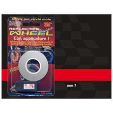 Wheel Stripes Rifrangenti Rosso 7 mm x 6 mt con applicatore