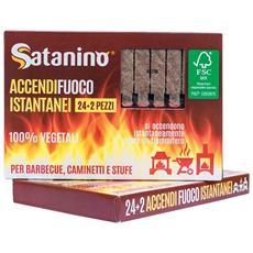 Accendifuoco Istantanei A Fiammifero - 100% Vegetali Ideali Per Barbecue Caminetti E Stufe