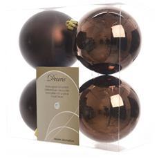 4 Palline Di Natale Cioccolato 10cm Albero Di Natale Addobbi Decorazioni