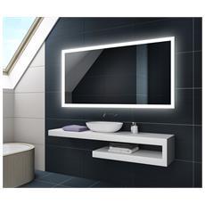 Controluce Led Specchio 160x70cm Su Misura Illuminazione Sala Da Bagno L01