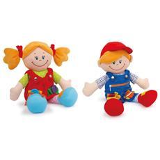 """Bambole In Tessuto """"""""chiara & Massimo"""""""" Legler"""