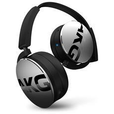 Cuffie Wireless Bluetooth ad Alte Prestazioni con Microfono e Comandi sul Padiglione Colore Silver