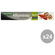 Set 24 Alluminio 16 Mt. Contenitori Per La Cucina