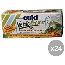 Set 24 Frigo Sacchi Verdura X 20 Pezzi Contenitori Per La Cucina
