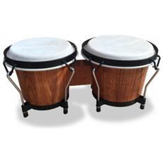 Bongo Soundsation Con Pelli Naturali E Tiranti