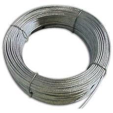 Fune Metallo Zincata a 72 Fili per Tapparelle Ø 2,4 mm Lunghezza 100 mt