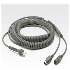 Motorola Keyboard Wedge Cable CBA-K08-C20PAR, 6m, Grigio, Maschio / femmina