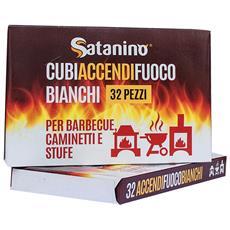 Cubi Accendifuoco Bianchi 32 Pezzi - Tradizionali A Base Di Kerosene