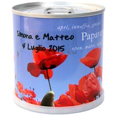 Bomboniere Naturali Personalizzabili Papavero Fiori In Lattina Macflowers Made In Germany Cm 7,5x8 H