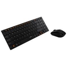 Mouse + Tastiera Ottica Wireless 9060P Nero