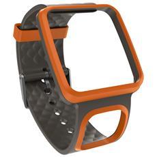 Cinturino sottile - Colore Arancione / Nero
