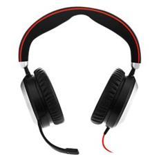 Evolve 80 MS Stereo, Stereofonico, Nero, Padiglione auricolare, Cablato, 3.5mm / USB, Sovraurale