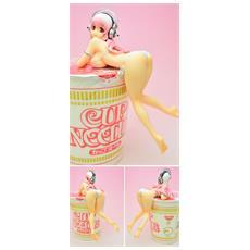 Super Sonico - Noodle Stopper Figure White Version (Altezza 13 Cm)