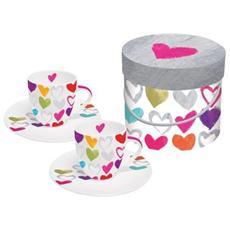PPD - Caffè Set di tazzine Paper Hearts - tazzine da...