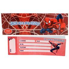 """Spider Man inviti assegno per party """"Salta alla mia Festa"""""""