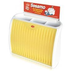 Saponello Supporto Per Spugne Con Dispenser Per Sapone Integrato, In Plastica, Colore: Bianco / verde
