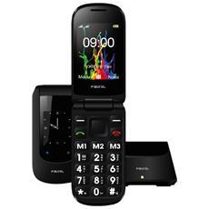 "EasyDream Senior Phone Nero Display 2.4"" +Slot MicroSD Bluetooth con Tasti Grandi Fotocamera - Italia"