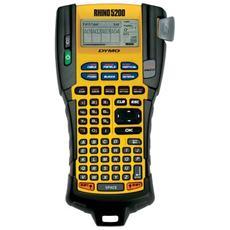 Etichettatrice Portatile Modello Rhino 5200 Formato 19 mm Schermo LCD 12 mm / sec Nera su Gialla