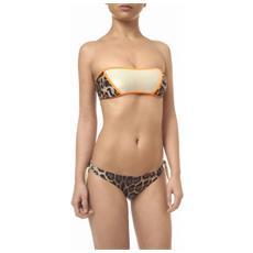 Bikini Donna Fascia Leopard Lurex Fantasia Arancio M