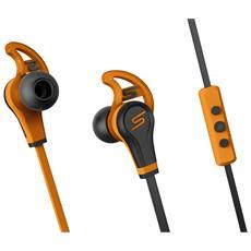 In-Ear Wired Sport, Stereofonico, Interno orecchio, Arancione, Nero, Digitale, IPX4, Cablato