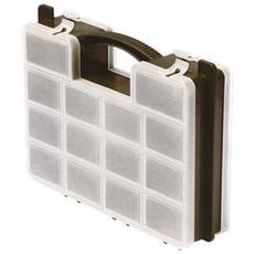 Cassetta portaminuterie in plastica 21 scomparti cm 29x23xH 7
