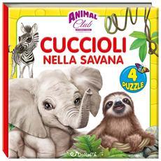 Animal Club International - Cuccioli Nella Savana (Libro Puzzle)