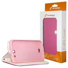 Flip Cover Custodia per Fourel Easy Smart F2 / C451 colore Rosa