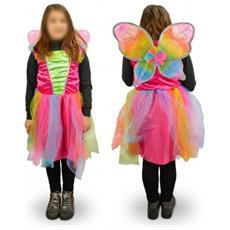 616945 Costume Di Carnevale Travestimento Farfalla Da Bambina Da 3 A 12 Anni - 9/12 Anni