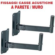 Coppia Supporti X Casse Acustiche A Parete O Muro Art Cp154003