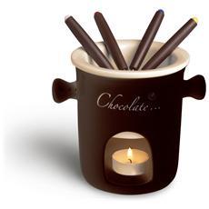 Servizio fonduta cioccolato 7 pezzi.
