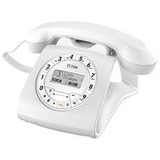Sirio Telefono di Casa Classico Colore Bianco-Tim Italia