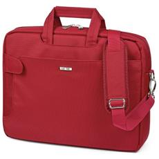 Ziano per Notebook City Time Dimensioni 40x31x10 cm Rosso