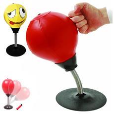 Palla Da Boxe Da Tavolo Con Supporto A Molla Punching Ball Antistress