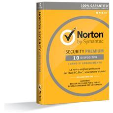 SYMANTEC - Norton Security Premium 1 Licenza per 10...