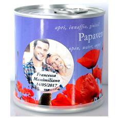 Bomboniere Matrimonio Naturali Personalizzate Papavero Fiori In Lattina Macflowers