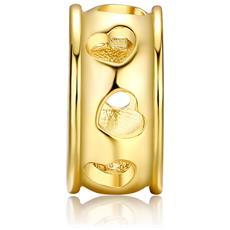 Separator Cuore Charms Beads Bracciale In Acciaio Inox Oro Giallo - Mis 2207 U