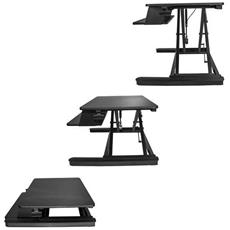 SIT STAND DESK CONVERTER - WITH 35IN WORK SURFACE - ADJUSTABLE