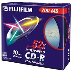 Cd-r 80 Min. 52x Slim 47444 Conf 10