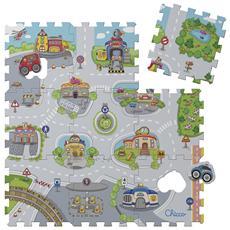 7163 - Tappeto Puzzle Città