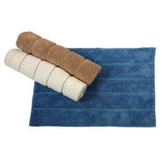 Tappeto bagno in cotone colore azzurro cm 50x70 Maurer